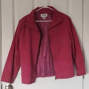 Bagatelle Size 14 100% Leather Jacket Spring pink